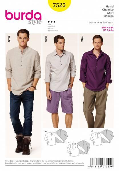 Bilde av 7525 - Burda - Skjorte, fritidsskjorte