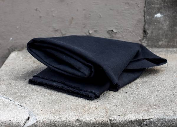 Bilde av 1,3 m Heavy Washed Canvas - Black - sort