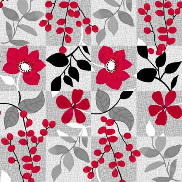 Bilde av Red Alert - 7,5 cm ruter med blomster