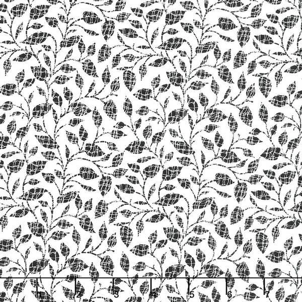 Bilde av Red Alert - 1 cm sorte blader på hvit