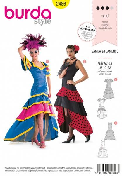 Bilde av 2486 - Burda - kostymer, flamenco