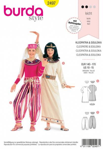 Bilde av 2497 - Burda - kostymer, kleopatra & gacenie