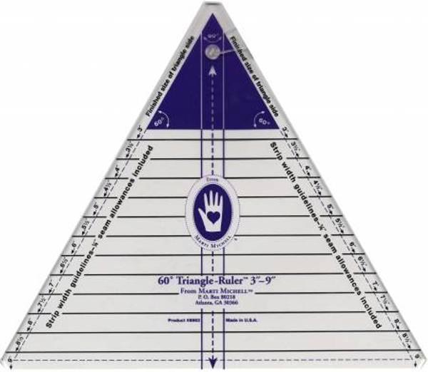 Bilde av Triangle Ruler, trekant linjal 60 grader, 3in-9in, Marti Mitchel