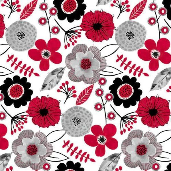 Bilde av Red Alert - 7 cm blomster på hvit