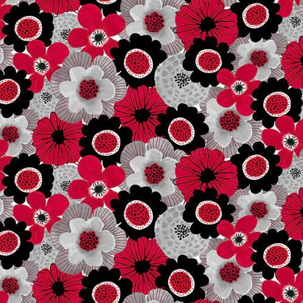 Bilde av Red Alert - 3-5 cm blomster allover
