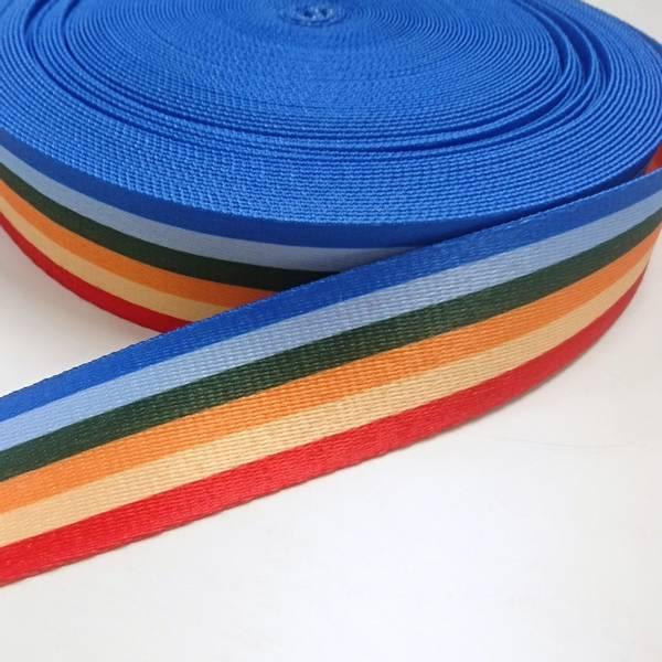 Bilde av Gjordebånd, polyester, 38 mm, 6 mm striper