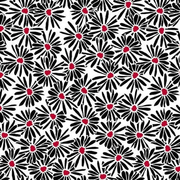 Bilde av Red Alert - 3 cm blomster på hvit