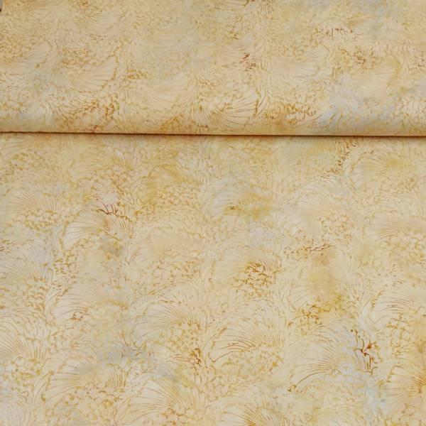 Bilde av Batikk - lysgul m ca 10 cm skjell mønster