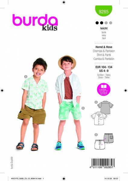 Bilde av 9285 - Burda - Skjorte og shorts