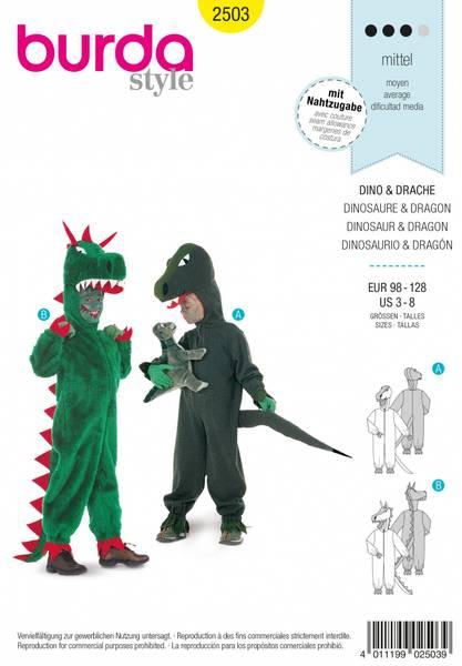 Bilde av 2503 - Burda - kostyme, dinosaur & drage