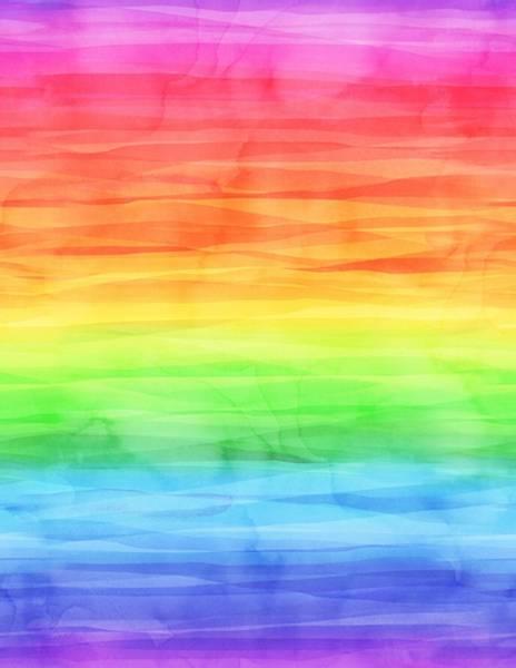 Bilde av Cue the Confetti - regnbue akvarellprint