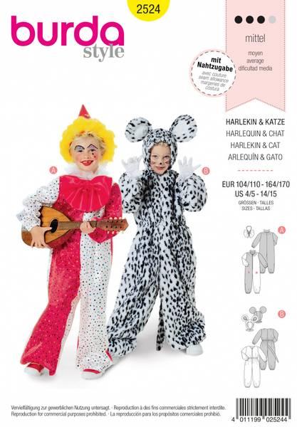 Bilde av 2524 - Burda - kostyme, harlequin & dyr