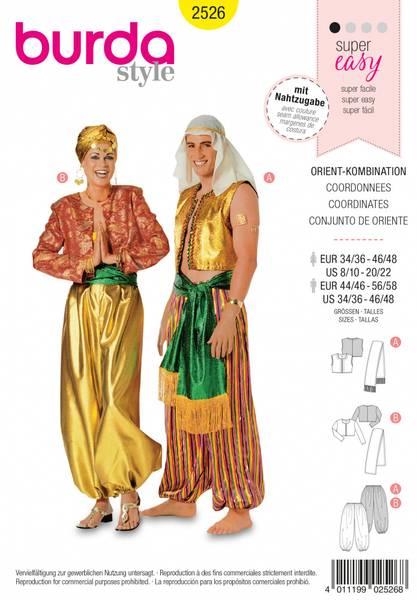 Bilde av 2526 - Burda - kostyme, genie