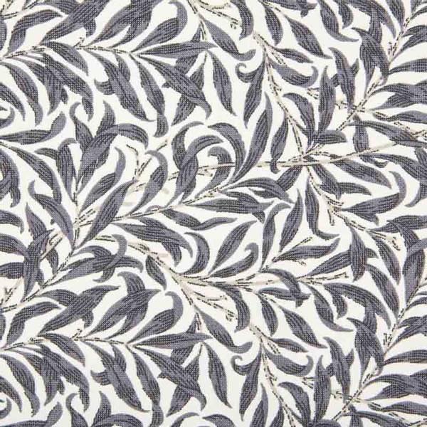 Bilde av Ramas - 3-4 cm mørkgrå bladmønster på offwhite