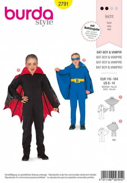 Bilde av 2791 - Burda - kostyme, superhelt & vampyr
