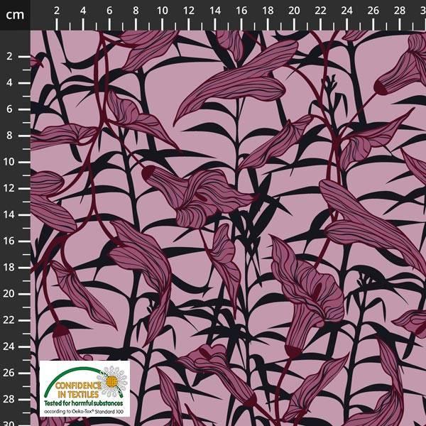 Bilde av Avalana Isoli - ca 7 cm blomster m sort på rosa