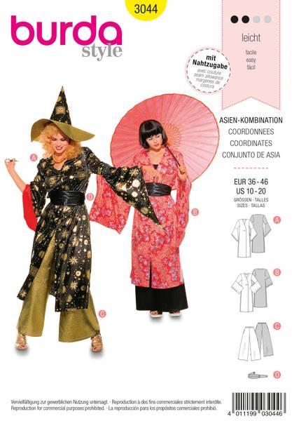 Bilde av 3044 - Burda - kostyme, asiatisk
