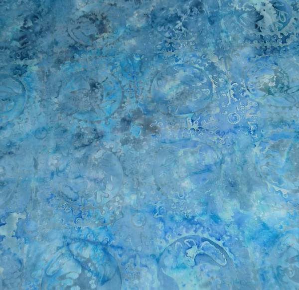 Bilde av Batikk - lysblå-grå m 8 cm sirkler