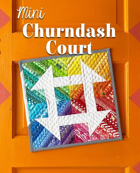Bilde av Mini Churndash Court - Miniquilt 12*12 inch