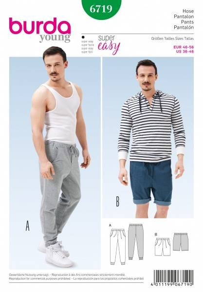 Bilde av 6719 - Burda - Joggebukse, sweatpants, shorts