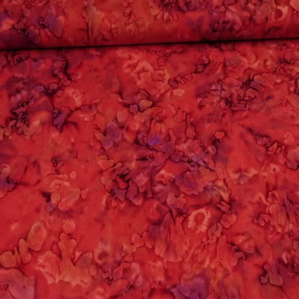 Bilde av Batikk - rød mønstret m lilla innsprengsel