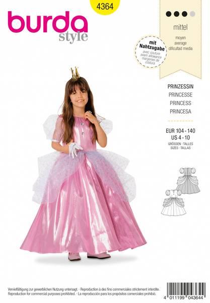 Bilde av 4364 - Burda - kostyme, prinsesse