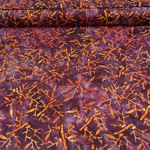 Bilde av Batikk - burgunder m/ oransje bambus