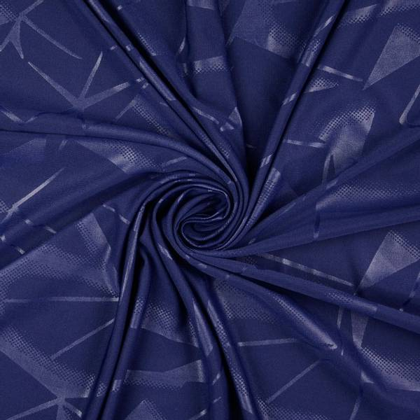 Bilde av Funksjonsjersey - sportjersey, marine, grafisk mønster
