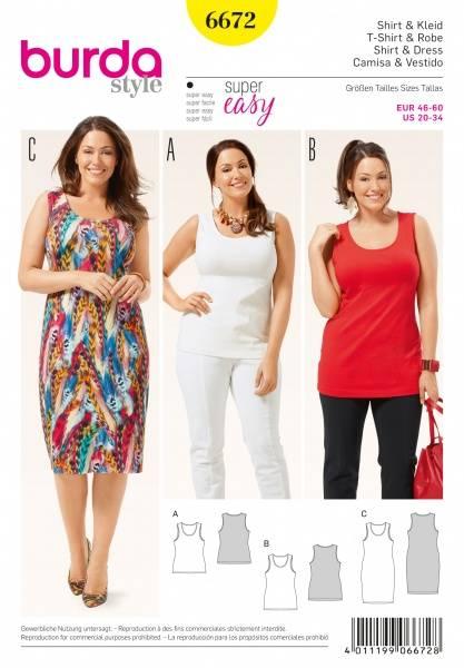 Bilde av 6672 - Burda - Singlet, Shirt & kjole