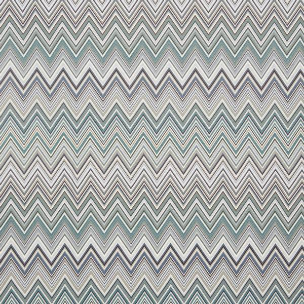 Bilde av Gobelin Zig-Zag - blå ca 10 cm høy sikksakk, ligner Missoni