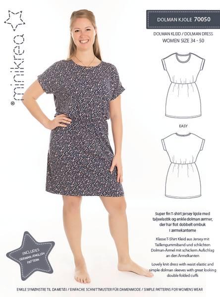 Bilde av Minikrea 70050 - Dolman kjole/ jerseykjole str 34-50