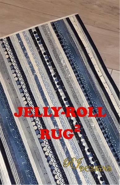 Bilde av Jelly Roll Rug 2 - firkantet teppe ca 80*105 cm