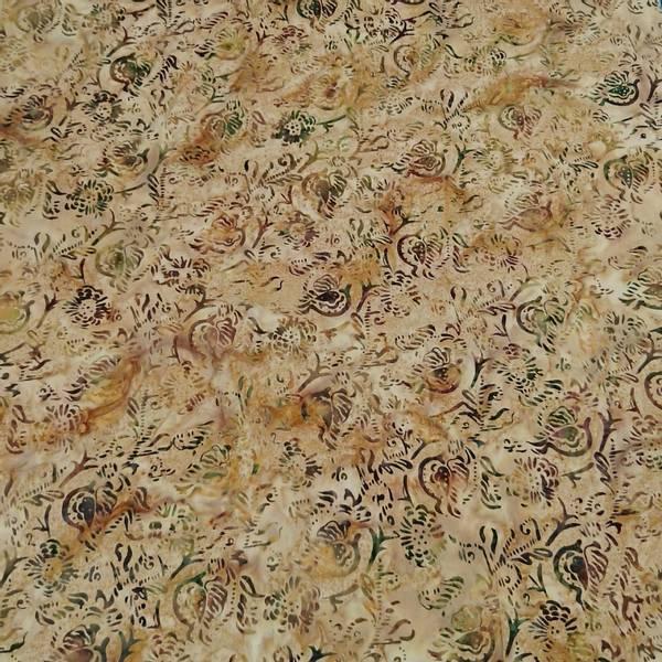 Bilde av Batikk - sandfarget med ca 4 cm oliven mønster