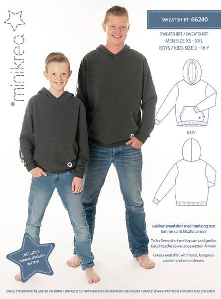 Bilde av Minikrea 66240 - Hettegenser/sweatshirt herre og barn/gutt