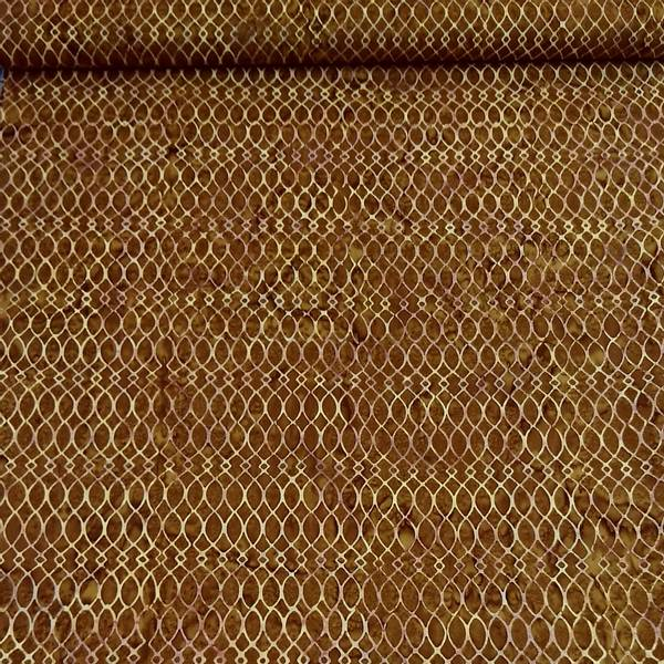Bilde av Batikk - brun med ca 2 cm stor mønster