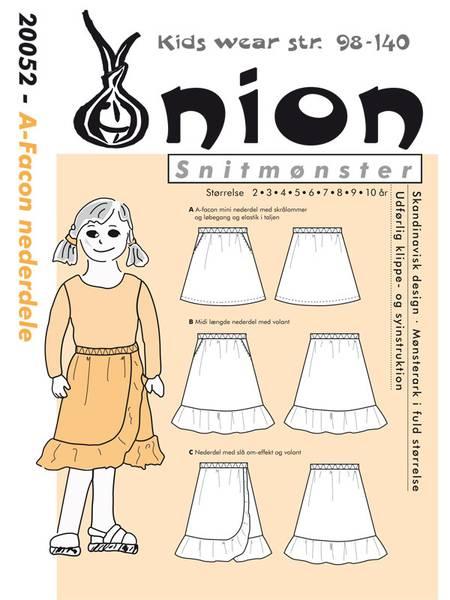 Bilde av Onion 20052 - A-fassong skjørt med/uten flæse