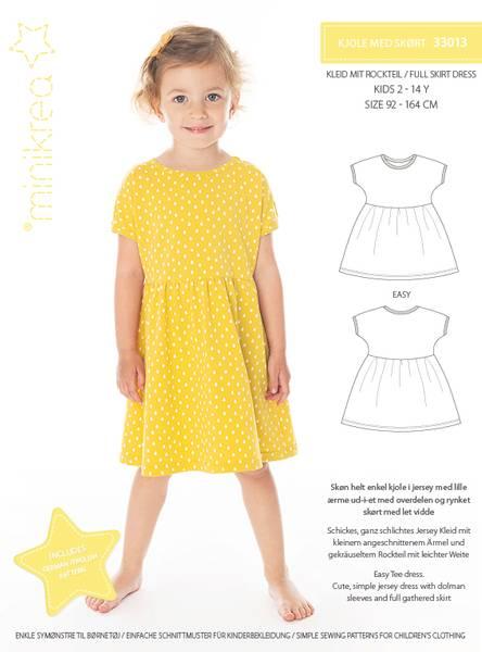 Bilde av Minikrea 33013 - Jerseykjole med skjørt, 2-14 år