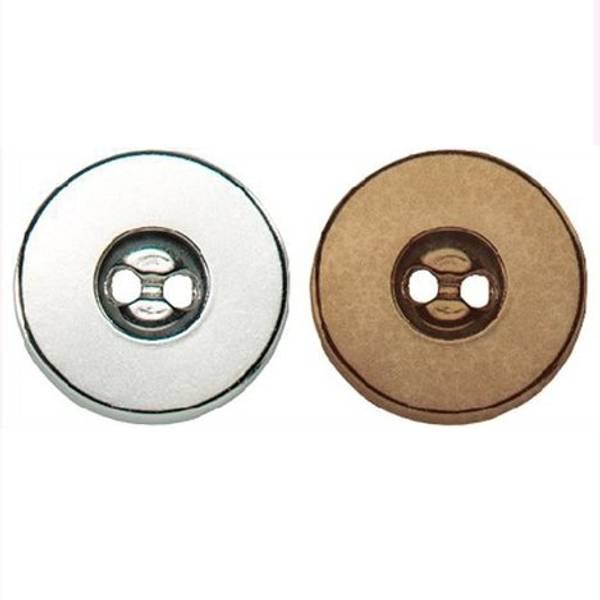 Bilde av Magnetknapp til å sy på - 18 mm, sølvfarget
