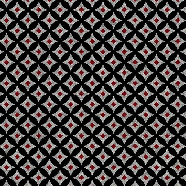 Bilde av Retro Vibes - 15 mm mørkgrå rød sort mønstret