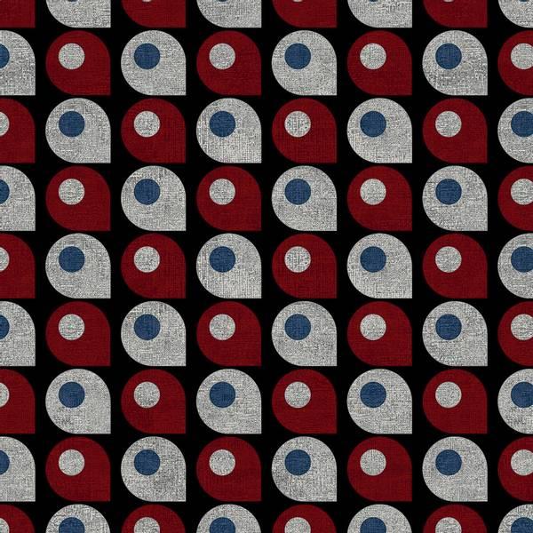 Bilde av Retro Vibes - 25 mm dråpemønster på sort