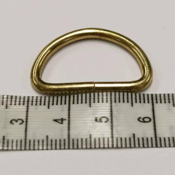 Bilde av D-Ring, gull, 3cm bred
