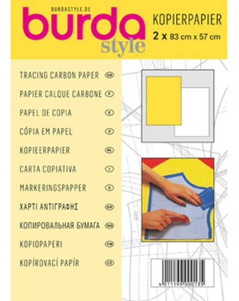 Bilde av Karbonpapir Burda - kalkerpapir - 2 ark, gul/hvitt