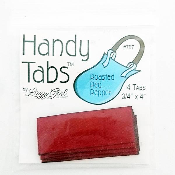 Bilde av Handy Tabs - vinrød, 4 st - veskehankstropper