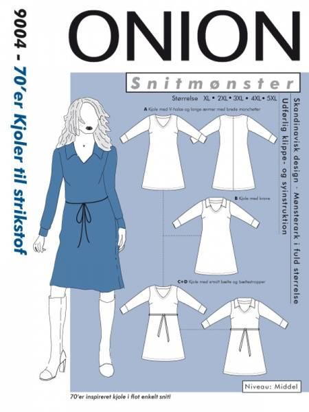 Bilde av Onion 9004 - 70´er kjole til stretch, pluss-størrelse