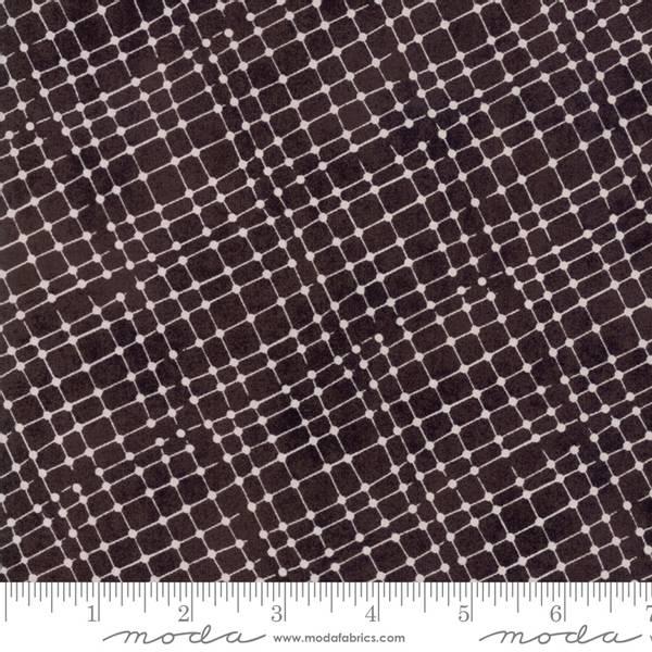 Bilde av 45 cm Meraki - 8 mm offwhite diagonal rutemønster på antrasitt