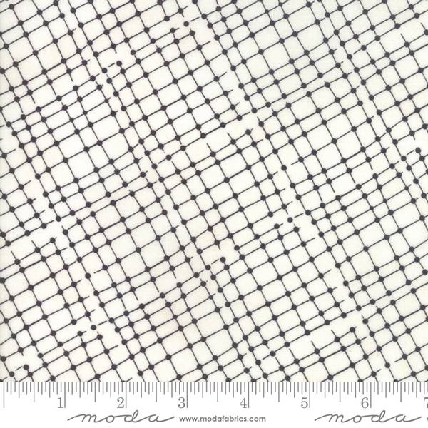 Bilde av Meraki - 8 mm antrasitt diagonal rutemønster på offwhite