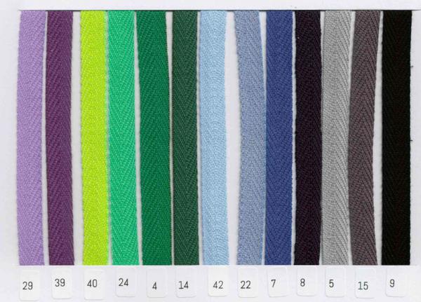 Bilde av 4 m Bånd vevd, sildeben, 10 mm bomull, fv. 24 lys grønn