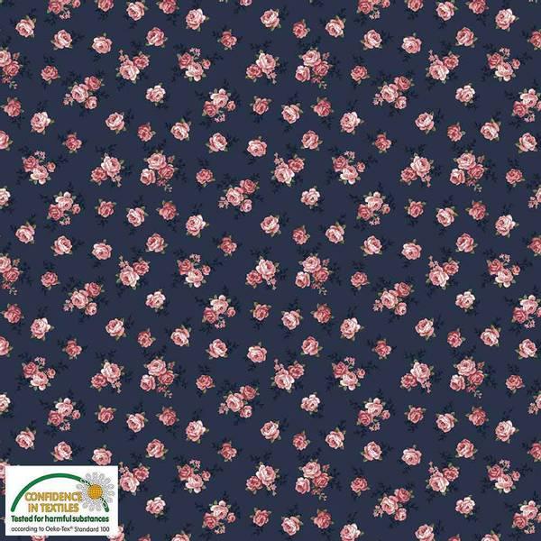 Bilde av Avalana bomullsjersey - 5-15 mm roser på marine
