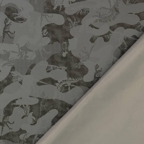 Bilde av Refleksstoff, tynn - vind- & vannavvisende - sort-sølv