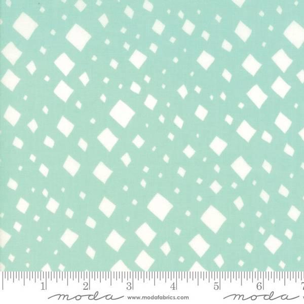Bilde av Savannah - Gingiber - 2-12 mm offwhite kvadrater på mintgrønn